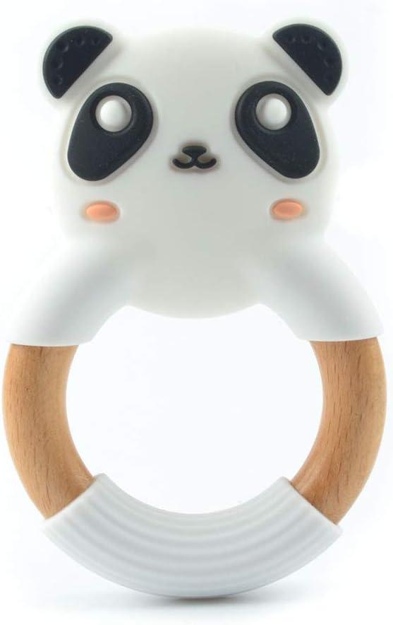 Anillo Mordedor en Forma de Panda para Bebés - Silicona y ...