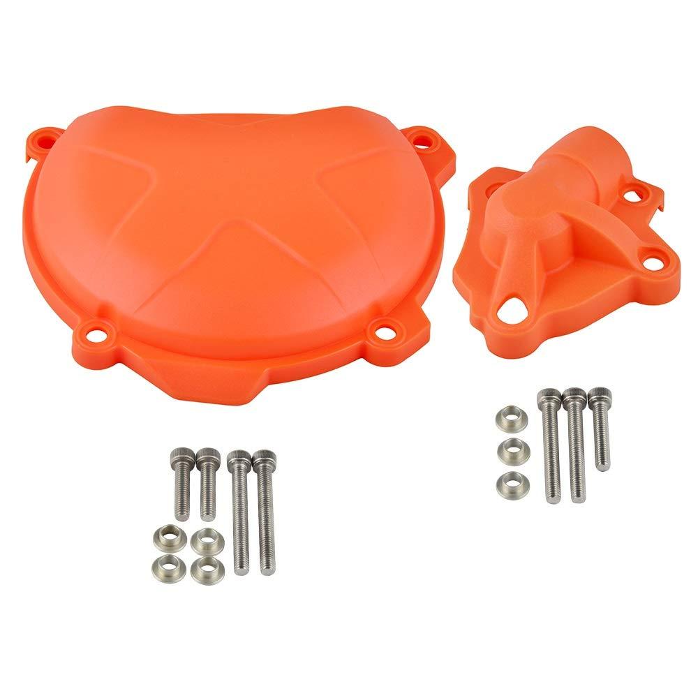 Wasserpumpe Schutz-Schutz Kupplungsdeckel /Öltankverschluss for KTM 250 350 SXF EXCF XCF XCFW Freeride SIX Days SXF EXCF XCFW LIWENCUI Color : Clutch Water Pump