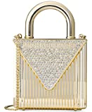 Michael Kors Studio Mercer Oversized Locked Clutch Gold