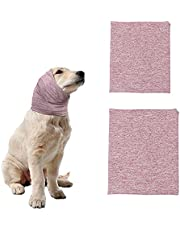 SINFUN 2 Pieces Dog Snood Dog Neck and Ears Warmer Pet Dog Hoodie Warm Noise Dog Ear Quiet Protection Hat Muffs for Dogs and Cats Anti-Anxiety Calming Bathing Grooming Reducing Noise (S+M)