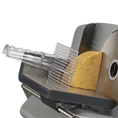 -[ Koölle Electric Food Slicer Adjustable Height, 3 Blade Options - Precision 19cm Blade   Inc