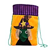 Halloween Bags for Trick Or Treat Cute Witches Candy Bag Packaging Children Party Storage Bag Gift (D)
