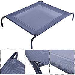 TF-Godung Pet Orthopedic Bed Dog Cat Elevated Pet Cot Indoor Outdoor Camping Steel Frame Mat New Large