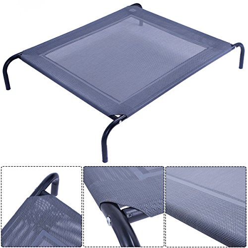 new-large-dog-cat-bed-elevated-pet-cot-indoor-outdoor-camping-steel-frame-mat