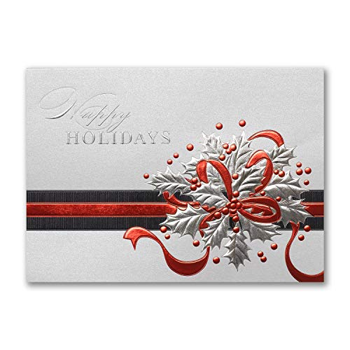 Shimmering Holly - 900pk Shimmering Holly - Holiday Card-Shop All Holiday