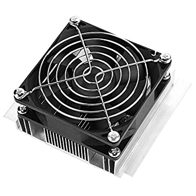12V DIY Semiconductor Refrigeration Cooler Thermoelectric Peltier Cold Plate with Fan Cooling Device Conditioner Module