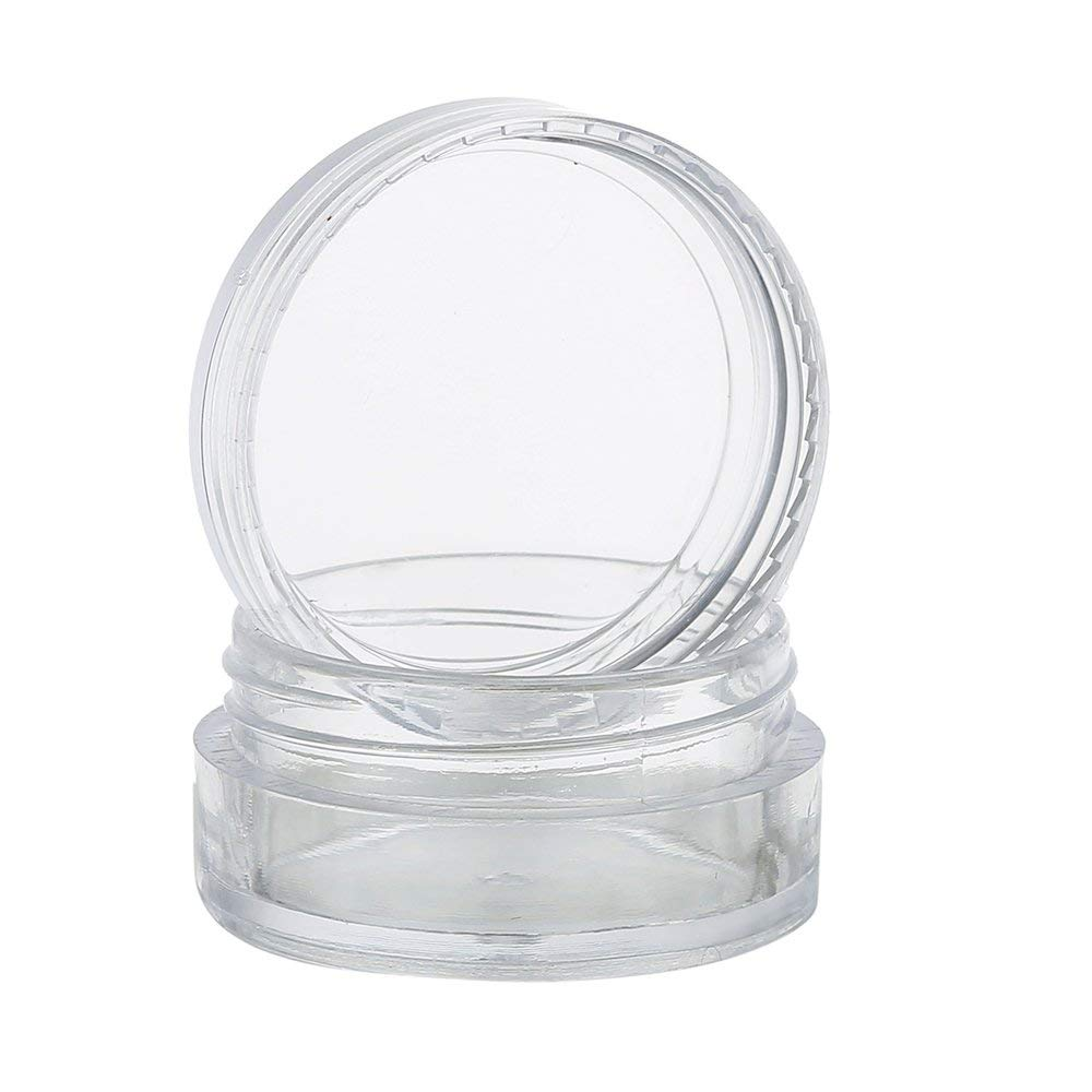 10Pcs Cosmetic Jars Plastic Travel Pots Sample Containers 5ml with Lids for Creams Sample Makeup Glitter Storage (10pcs)