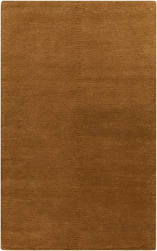 (Surya Cambria CBR-8714 Shag Hand Woven 100% New Zealand Wool Bronze 5' x 8' Area Rug)