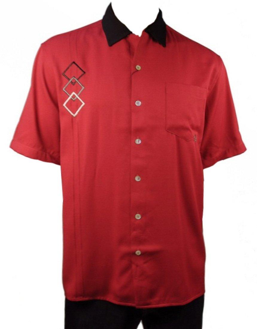 Davinci Triple D Bowling Shirt (S, Red)
