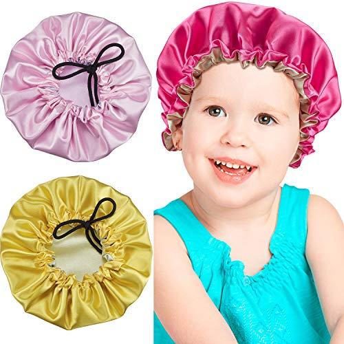 Babies Bonnet - 3 Pieces Kids Satin Bonnet Adjustable