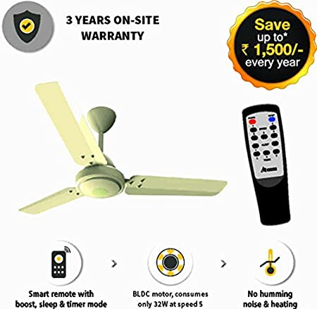 Gorilla Energy Saving BLDC Ceiling Fan with Remote 1050 mm