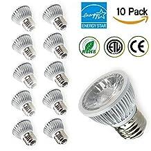 TSCDY PAR16 LED,5W Dimmable Bulbs,2700K Warm White,450 Lumen,35 Watt Replacement,36 Degree Beam Angle,E26/E27 Standard Base,CRI 80+,ETL-Listed and ENERGY STAR,Pack of 10
