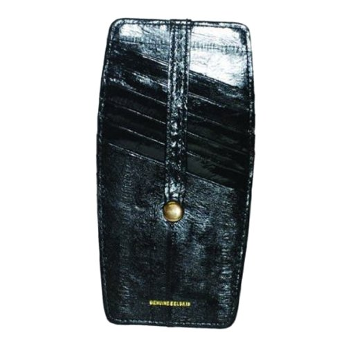 Eel Skin Snap - Snap Two Sided Eel Skin Leather Credit Card Holder#E531