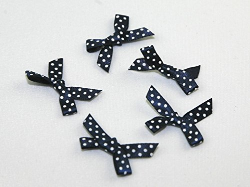 (Polka Dot Satin Ribbon Bows - per Pack of 18)