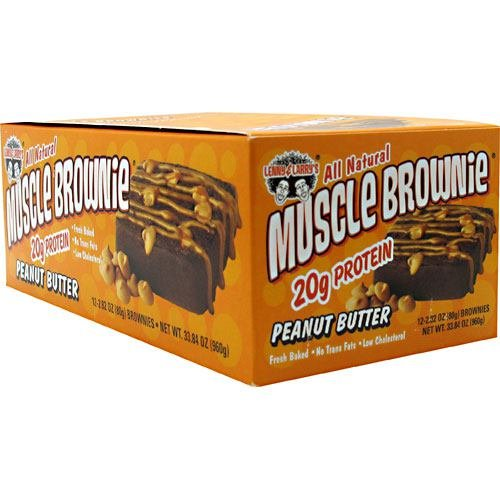 Lenny & Larry's Muscle Brownies - Peanut Butter - Box of 12 - 2.82 oz. (80g) each