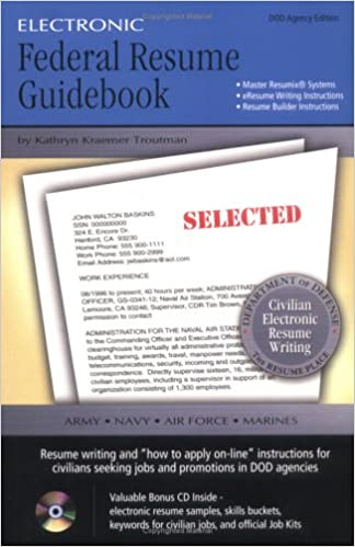 electronic federal resume guidebook kathryn kraemer troutman 9780964702523 amazoncom books