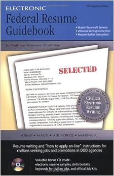 electronic federal resume guidebook kathryn kraemer troutman