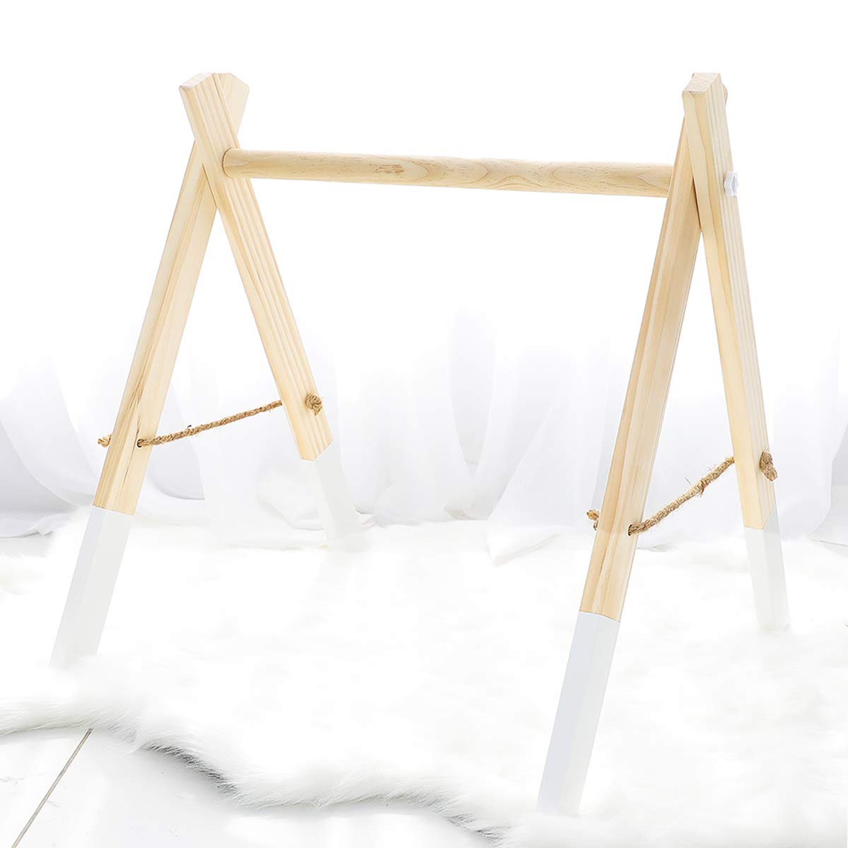 Wood Baby Gym Baby Nursing Play Gym Natural White Activity Center Toys Environmental Protection Sensory Toys