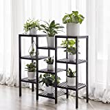 SONGMICS Bamboo Customizable Plant Stand Flower