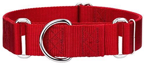 Country Brook Design 10 1 1/2 Inch Martingale Heavyduty Nylon Dog Collars - Red - Extra Large