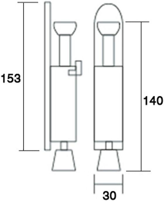 153x30x140cm Kick Down Door Locks Stopper Holder Spring Loaded Adjustable Door Holder Zinc Alloy Foot Spring Loaded Door Retainer with Extra-Strong Traction