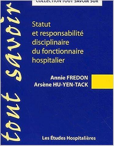 Téléchargement Statut et responsabilité disciplinaire du fonctionnaire hospitalier pdf, epub