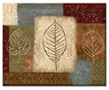 CounterArt Leaf Collage Glass Cutting Board, 14-7/8 by 11-3/4 Inches