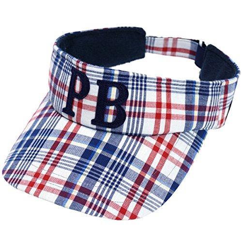 サイコバニー PSYCHO BUNNY 帽子 マドラスサンバイザー PHMG706F ネイビー フリー