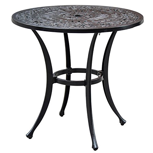 Lakeview Outdoor Designs Villa Flora Inch Round Cast Aluminum - 30 inch round outdoor table