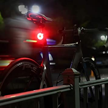Red High Intensity Cycling Safety Flashlight Fits on Any Bikes Backpacks 5 Modes Bright Bicycle Rear Light Easily Clips On ELECFUN USB Rechargeable LED Bike Tail Light Helmet Light Helmets