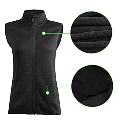 SPOEAR Zip Up Womens Vest with Zipper Pockets Athletic Sweater Fleece Vest Sleeveless Sweater Jacket at Women's Coats Shop