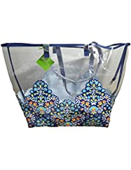 Vera Bradley Clearly Colorful Tote (Chandelier Floral)