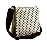 Lunarable Cat Messenger Bag, Black Domestic Animal Wedding, Unisex Cross-body