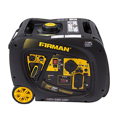 (Firman W03082 3300/3000 Watt Electric Start Gas Portable Generator cETL and CARB Certified, Black)