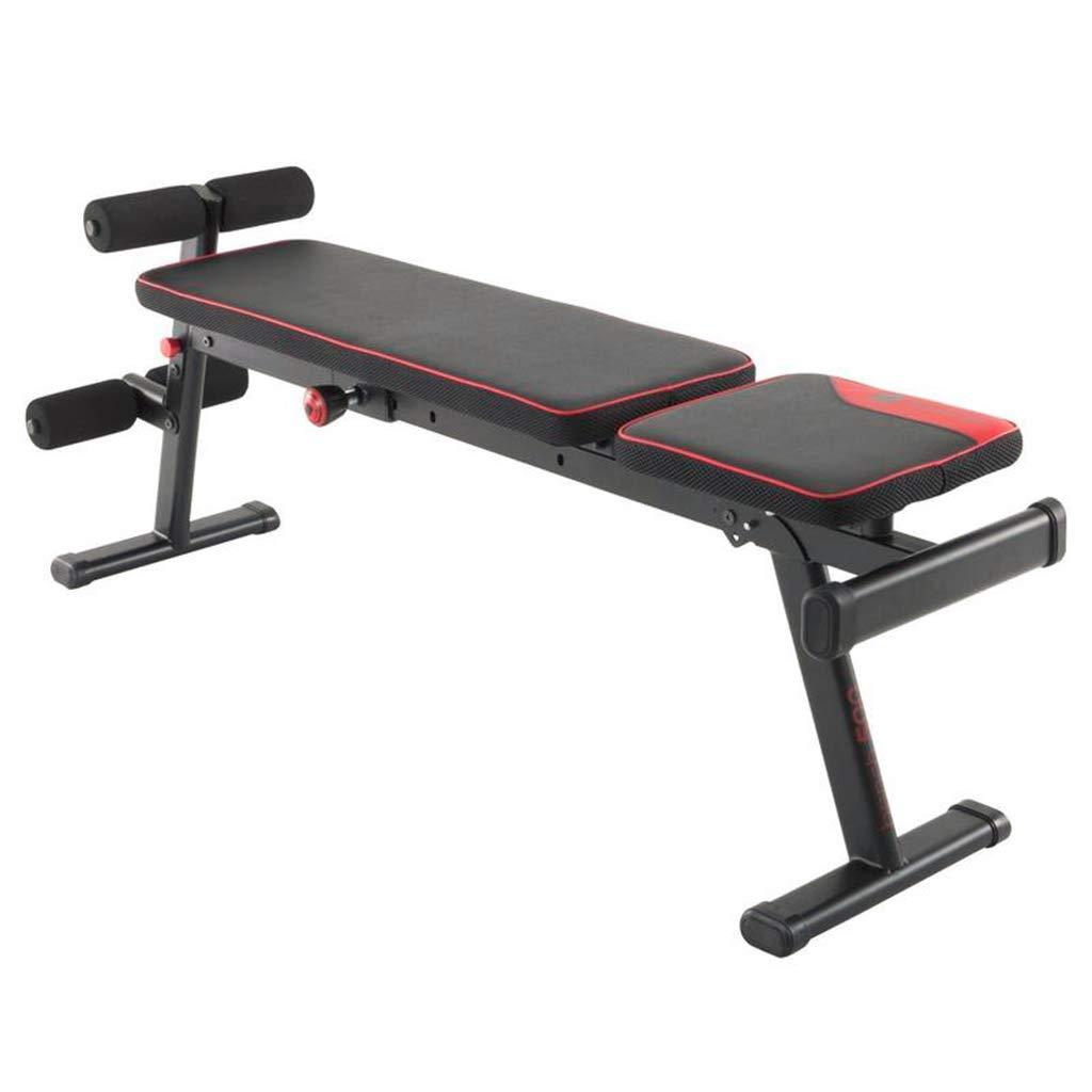 ダンベルベンチ腹筋メンズ多機能ベンチプレスフィットネスチェアフィットネス機器ホーム腹部ボード腹部 トレーニングベンチ 135*35*58cm Black B07GNMFY25