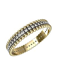 14K Gold Eternity Band Rings with 0.3 Carat Diamonds and Band Width 3.5mm