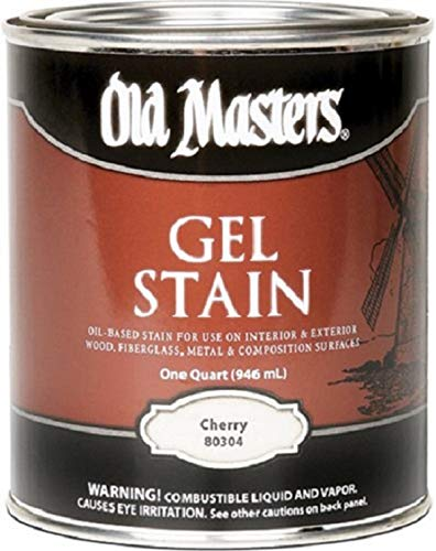 (Old Masters 25013 80304 Gel Stain, Cherry, 1 Quart)