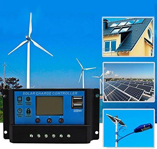 Ganquer 10 Ampere Lampe Regler Timer 12 V 24 V Solarpaneel-Batterie Laderegler für LED-Straßenbeleuchtung oder Solar-Heimsystem, Wie abgebildet, 10a