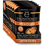 Enlightened Plant Protein Gluten Free Roasted Broad (Fava) Bean Snack, Mesquite BBQ, 6 Count
