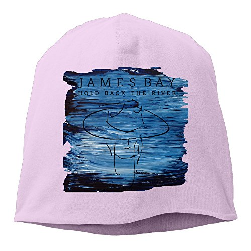 YUVIA James Bay Men's&Women's Patch Beanie TravellingPink Caps For Autumn And Winter
