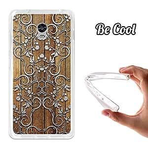 BeCool® - Funda Gel Flexible Lenovo Vibe P1 Silver Art Carcasa Case Silicona TPU Suave
