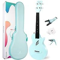 Enya Concert Ukulele Nova U 23'' Carbon Fiber Travel Ukulele with Beginner Kit includes online lessons, case, strap…