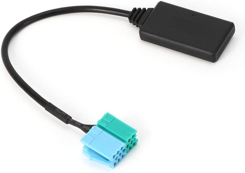 Adaptador de cable AUX Bluetooth 6Pin 8Pin Est/éreo CD Host Adaptador de cable AUX-IN M/ódulo Bluetooth L/ínea de adaptador de radio