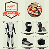 Sports Blue Go Kart Racing Suit Suit,Gloves,Balaclava and Shoes free bag - Gray With Black Style