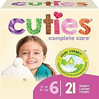 Cuties Complete Care Baby Diapers, Size 6, 21 Count