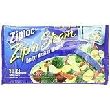 Ziploc ZipN Steam Cooking Bags, Medium, 10-Count(Pack of 3)