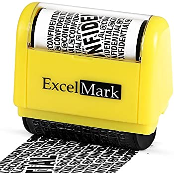 ExcelMark Identity Theft Protection Stamp - Privacy Protection At Your Fingertips Anti Theft Roller Stamps Keep Your Personal Information Confidential A Must For Your Home and Office Supplies