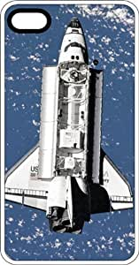 Space Shuttle Discovery Orbiting Earth White Rubber Case for Apple iPhone 5 or iPhone 5s