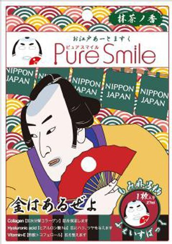 Pure Smile Japan Edo Face Mask Momi Maro Actor Collagen & Ha