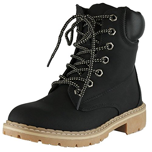 Cambridge Select Women's Work Combat Military Mid Calf Lug Sole Boot,8.5 B(M) US,Black - Sole Combat Boots